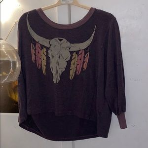 Wildfox Crop Sweater with Design